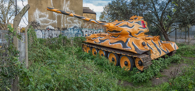 Bermondsey T-34 with tiger stripes