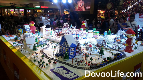 davao photos lego christmas village at sm lanang
