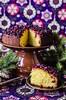 Пирог из манки, кокосовой стружки и ягод