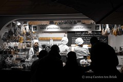 Working at the Christmas market