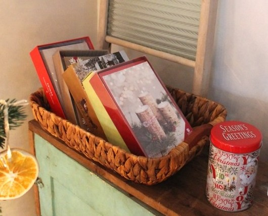 christmas-card-station-basket