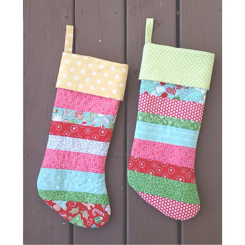 boom. done. �� miss lindsey FINALLY has a stocking, folks! (the other one is for my stepdaughter, rebecca!) #sewingwithpsiquilt