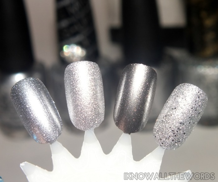 opi unfrost my heart trio- silver comparison
