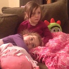 Post-school sister snuggles. #bonus #brobee #photobomb