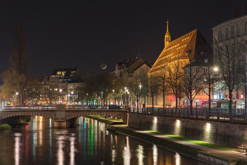 Moonset in Strasbourg