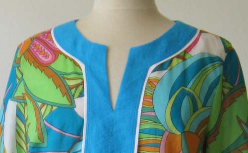 Tunic top close up
