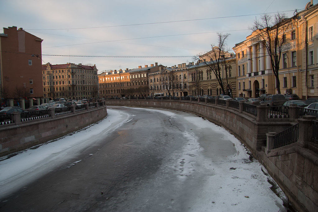Canals in St. Petersburg Russia