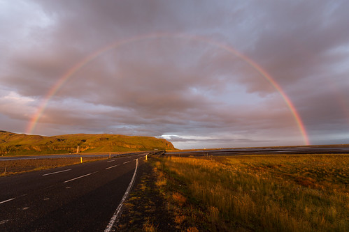 Rainbow over Seljalandsfoss