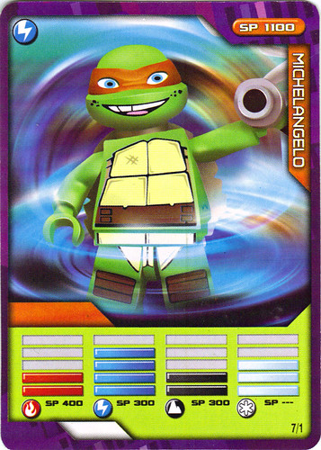 "Sheng Yuan TEENAGE MUTANT NINJA TURTLES :: ""SHREDDER"" Bootleg Minifigure Set / ..game card 7/1 ""MICHELANGELO"" (( 2014 ))"