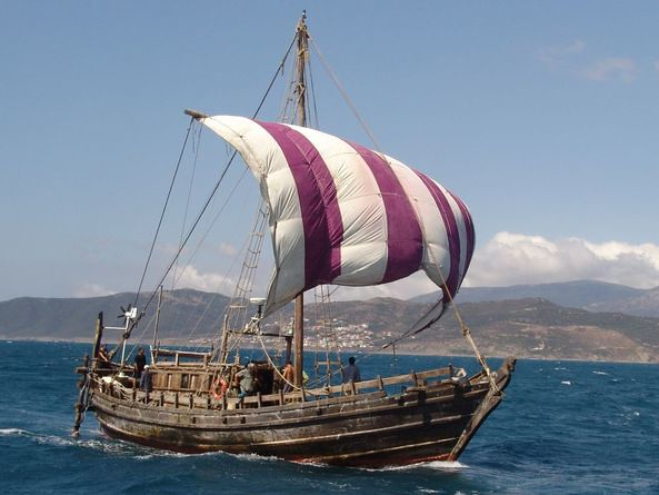 Reconstruction of Phoenician ship 600 BC