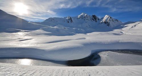 del ticino tramonto valle neve di sole svizzera inverno dicembre montagna 2014 ghiacciaio canali lucomagno blenio adula 2230m lareccio