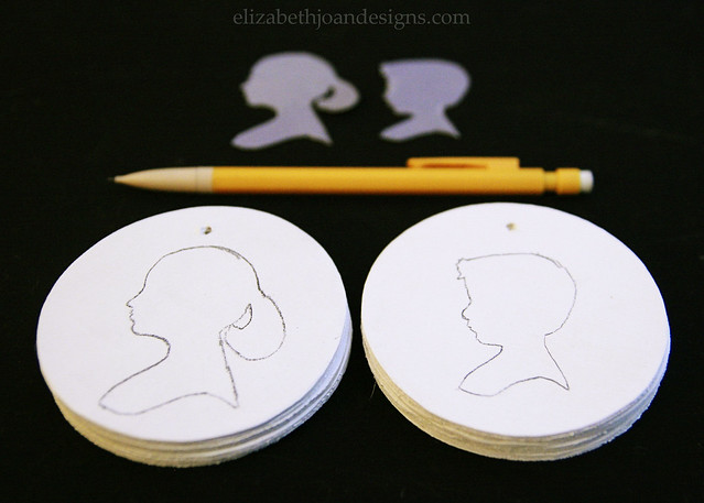 Traced Silhouette Wood Circles