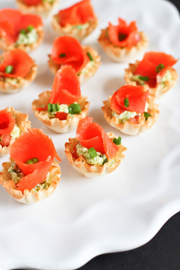 Mini Smoked Salmon and Pesto Yogurt Phyllo Bites...Fantastic for New ...