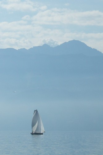sailing on Lake Geneva
