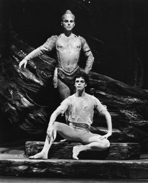 Derek Rencher as Terrestial and Anthony Dowell as the boy with the matted hair in The Royal Ballet production of 'Shadowplay' (1967) at the Royal Opera House, Covent Garden© Royal Opera House Collections/Donald Southern