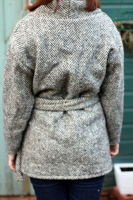 Black & White Wool Oslo Cardigan