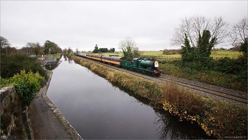 ireland winter reflection train canal rail maynooth kildare steamloco rpsi topazadjust no461