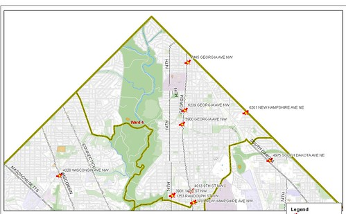 DC Ward 4 map