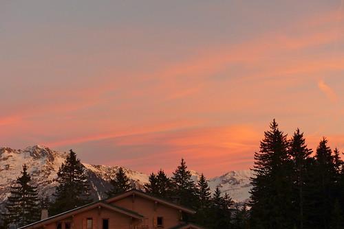 montagne hiver coucherdesoleil lessaisies