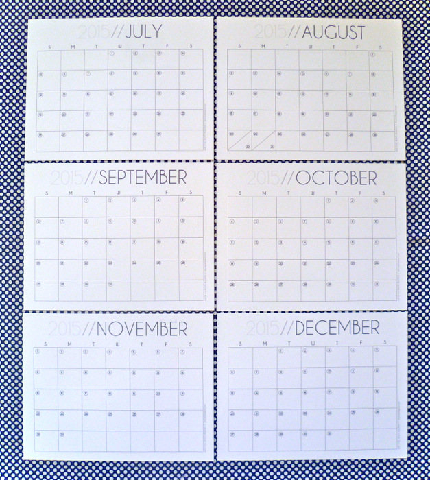 2015 Monthly Calendar Free Printable by Hey, it's SJ part 2