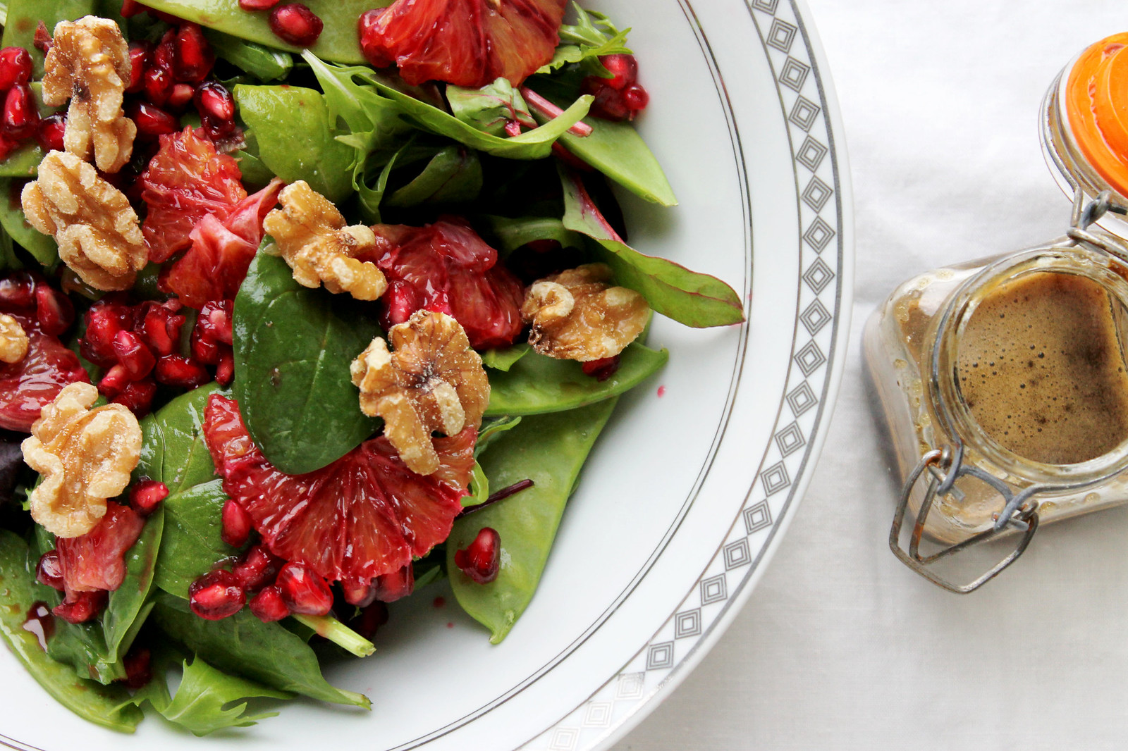 pomegranate blood orange salad