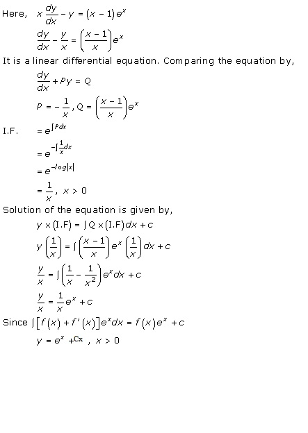 RD Sharma Class 12 Solutions Chapter 22 Differential Equations Ex 22.10 Q10