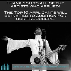 Applications are now closed. Thank you to all of the artists who applied. The TOP TEN applicants will be invited to audition for our producers. Who will be our 2016 Program Artist?   #music #produce #engineer #nonprofit #volunteer #record #EP #album #labe
