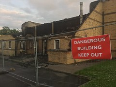 Lechlade Memorial Hall arson.  It is a pity that these things happen...
