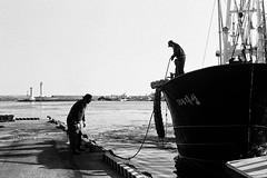 #JejuRolls #Jeju #Island #analogue #35mm #kodak #bnw #bw #film #photography #seaside #fisherman #boat #filmphotography #contrast