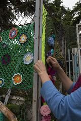 Yarn bombing Besançon 38