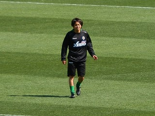 笑顔の梶川選手。
