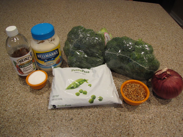 Broccoli & Pea Salad Ingredients