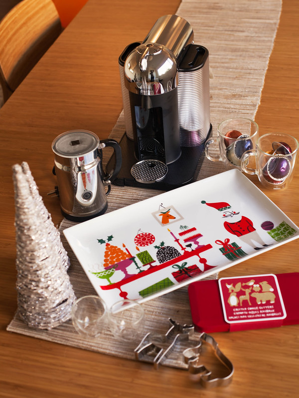 cute & little blog | holiday dining entertaining decor nespresso | #festivefinds