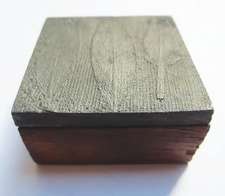 Franklin's Nature Printing block