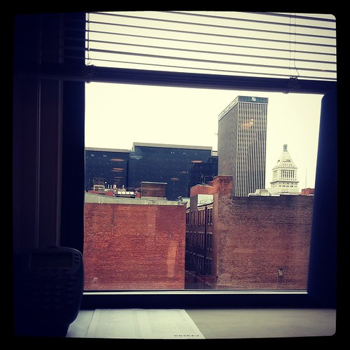 Downtown Cincinnati from my office window...