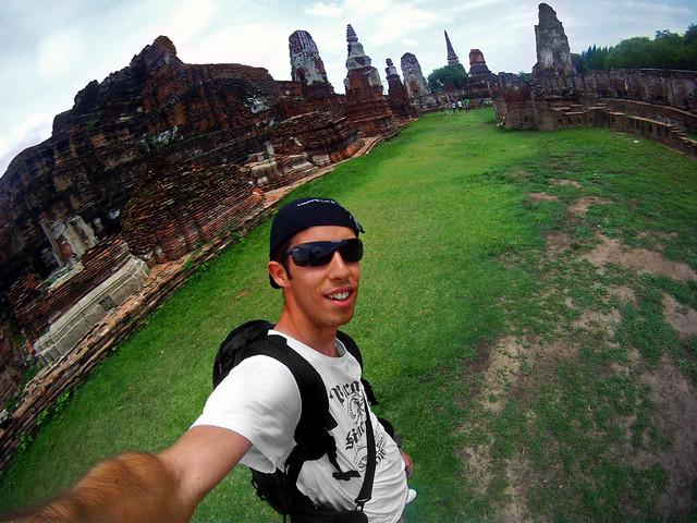 Miguel Egido, del blog de viajes Diario de un Mentiroso, en Ayutthaya
