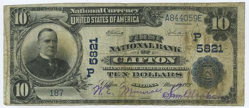 Clifton AZ National Bank Note