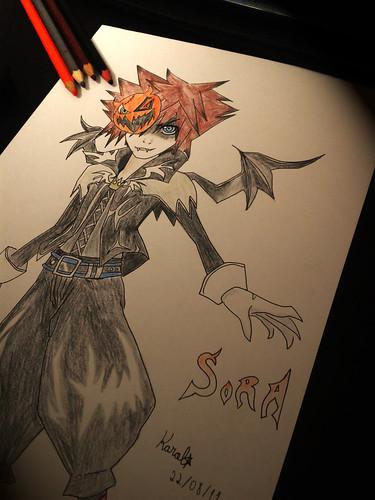 Fan Art - Halloween Town Sora; Artist - Taiara-sama