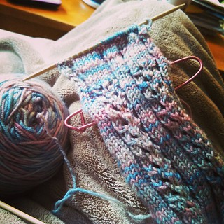 Dug out another ancient #wip to work on. #OperationSockDrawer and #OperationFinishProjects #getyourkniton #knitstagram #socks #knitting #knitterproblems