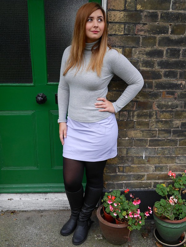 Forever 21 Turtle Neck Knitwear Dorothy Perkins Leather Skirt