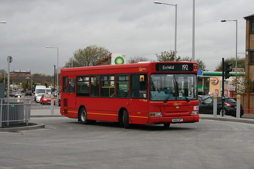 London General (on loan from Arriva London) PDL138 on Route 192, Tottenham Hale Bus Station