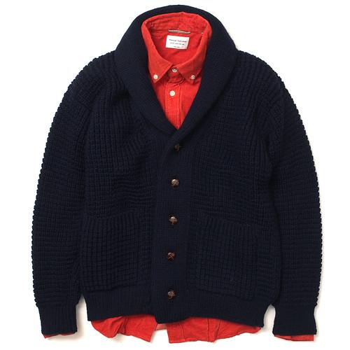 Oldderby Knitwear / Popcorn Shawl Cardigan