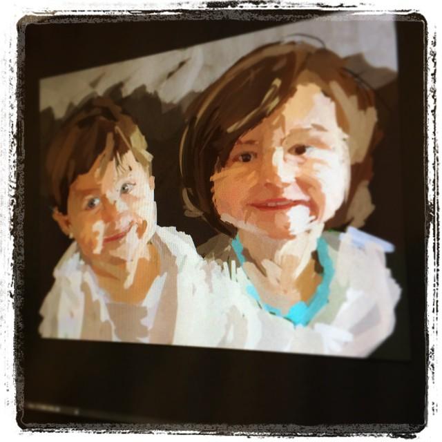 Starting a new commission #portrait #wacom #cintiq