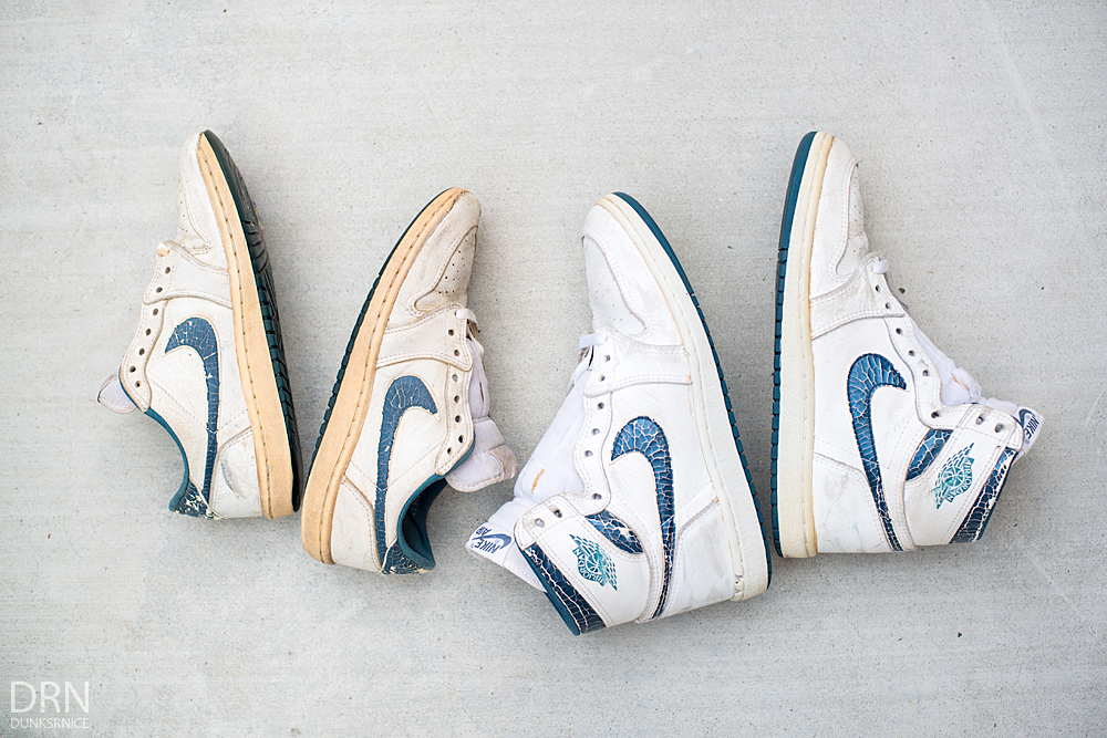 1985 White/Metallic Blue Low & High I's.
