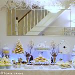 Winter woodland dessert table
