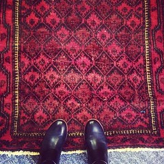 Rug number one of a billion for the new place came in today. :grin: