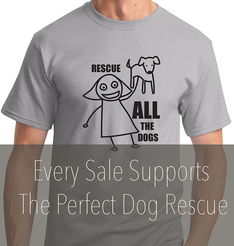 T-shirt where all proceeds support rescue.