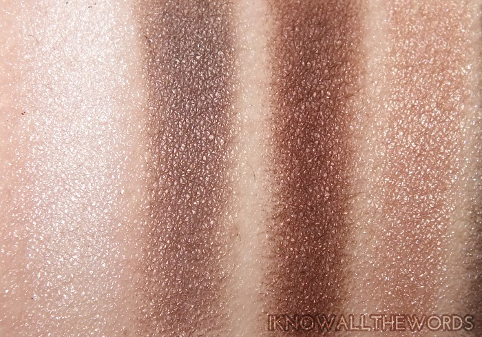 clinique a black honey affair palette swatches  (2)
