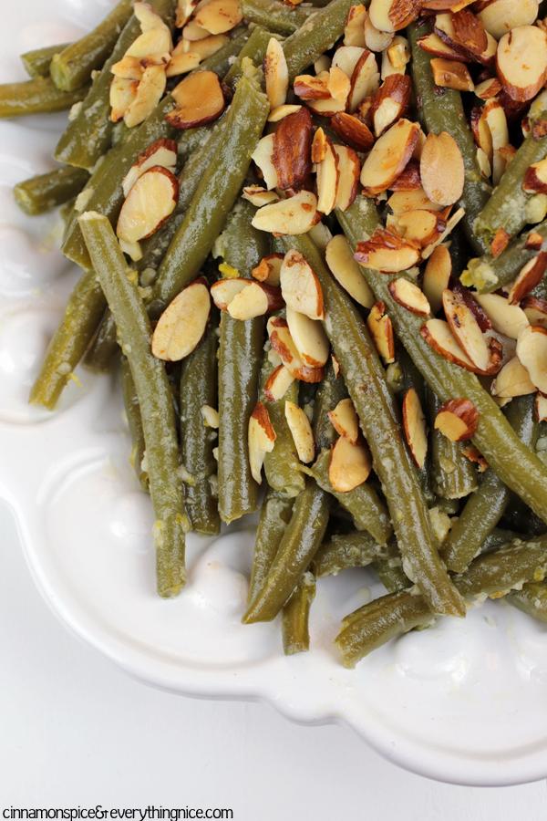 Parmesan Garlic Green Bean Almondine
