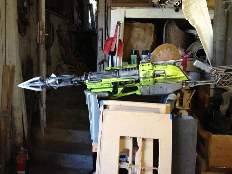Harpoon Gun Initial Weathering